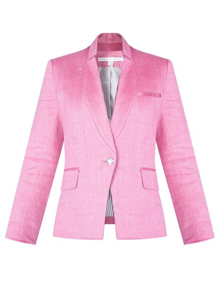 Veronica Beard Orchid Linen Dickey Jacket - Pink
