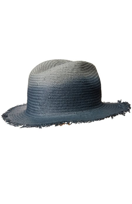 Hat Attack Packable Fringed Ombre Rancher - Blue