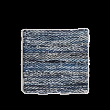 India Flag Denim Cushion Cover - Blue