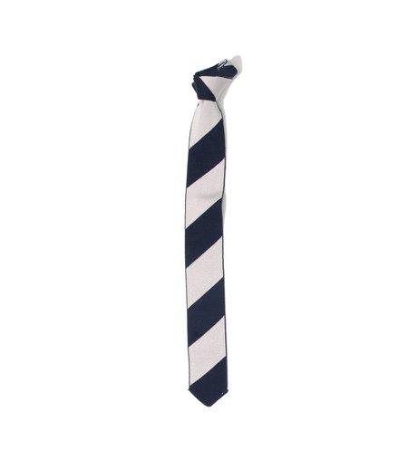 Freeman's Sporting Club Knit Necktie - Navy Barber Stripe