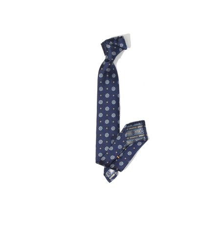 Freeman's Sporting Club Unstructured Tie - Navy Floral