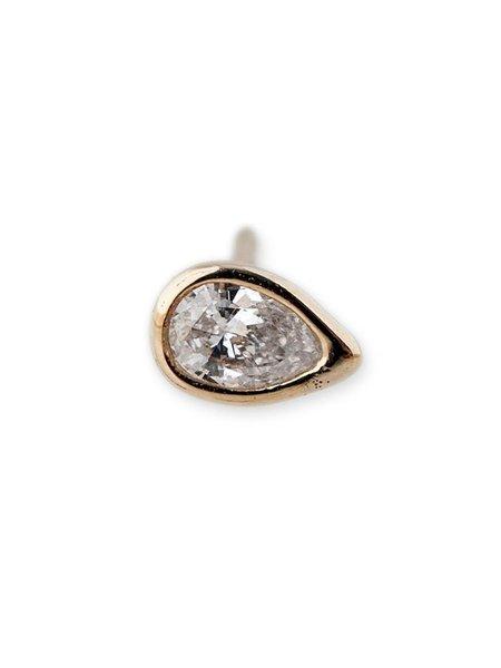 Jacquie Aiche Teardrop Diamond Stud