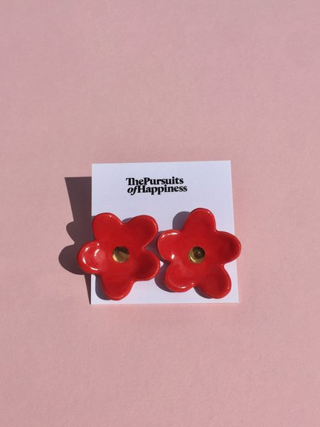 The Pursuits of Happiness Flower Earrings