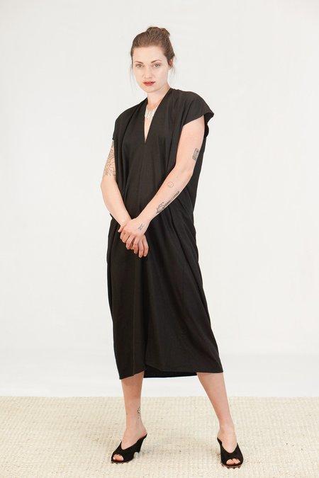 Miranda Bennett Knot Dress - Black Silk Noil