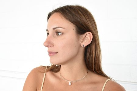Ideal Woman Betty 8mm Earring - White Gold