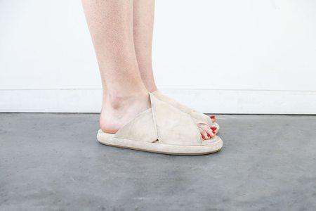 Marsèll Ciambella Criss-Cross Sandal - Biscuit