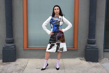 Marni Long Sleeve Dress - Cobalt
