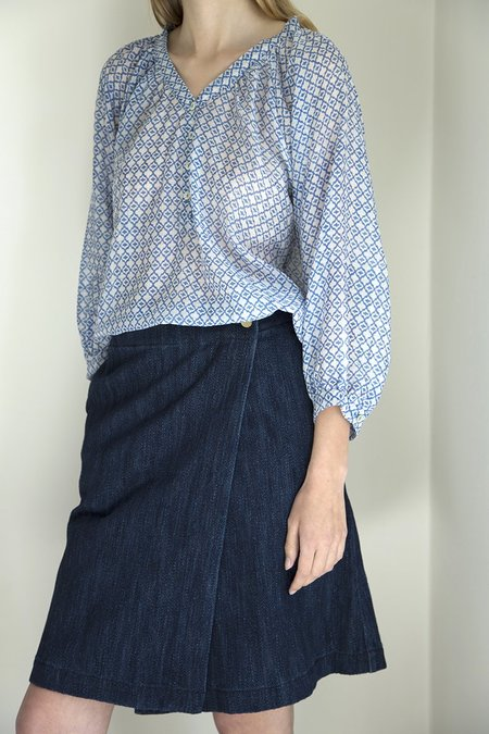Pink City Prints Boho blouse - LIGHT BLUE