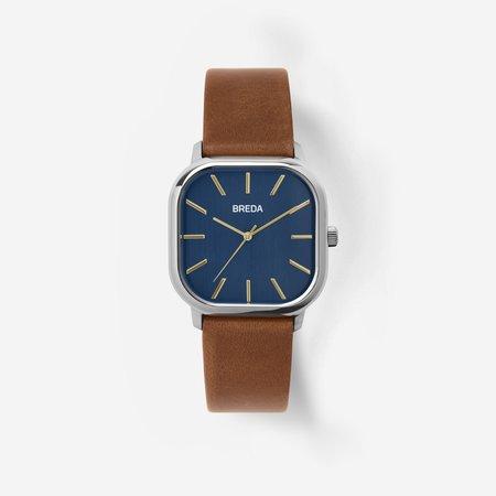 Breda Visser Watch - Silver / Brown / Navy