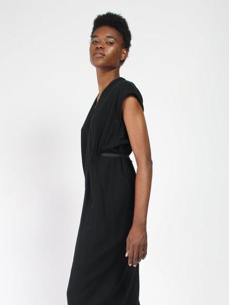 Miranda Bennett Knot Dress in Cotton - Black