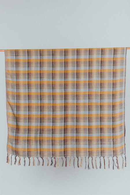 Weft End Seven Throw - Midcentury Stripe