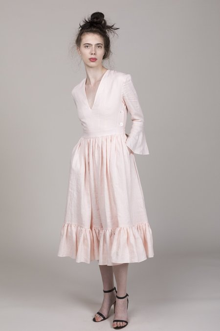 Loup Charmant Sea Island Dress - Baby Pink