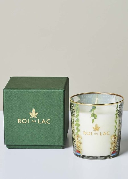 Roi du Lac Leather Fragrance Glass Candle