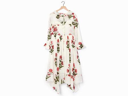 Laurence Bras Carpet Dress - White/Red