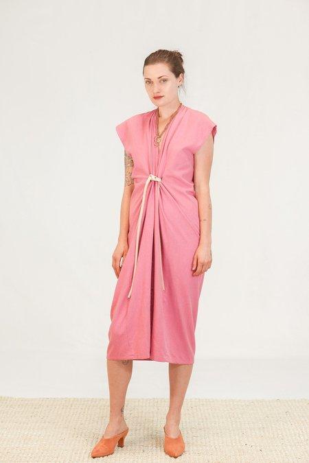 Miranda Bennett Knot Dress - Rio Silk Noil