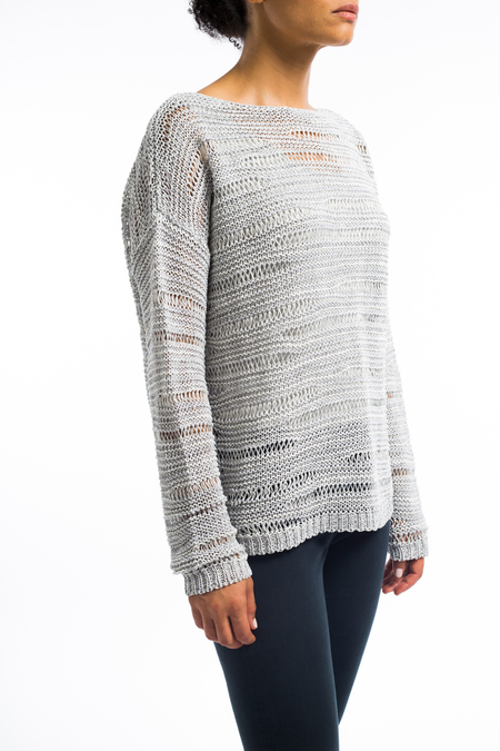 Sarah Pacini cotton linen long woven sweater