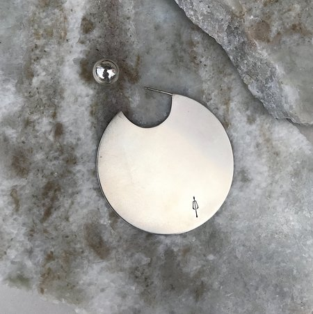 M33Ms Eze Disc Earring - Silver