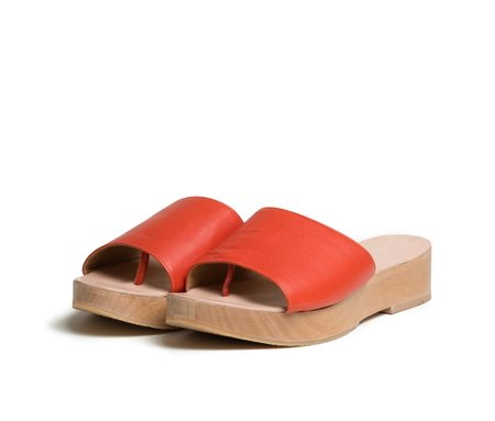 The Palatines Shoes Emano Flatform Slide Sandal - Saffron