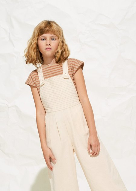 Kids Polder Girl Denmark Dungarees - Natural