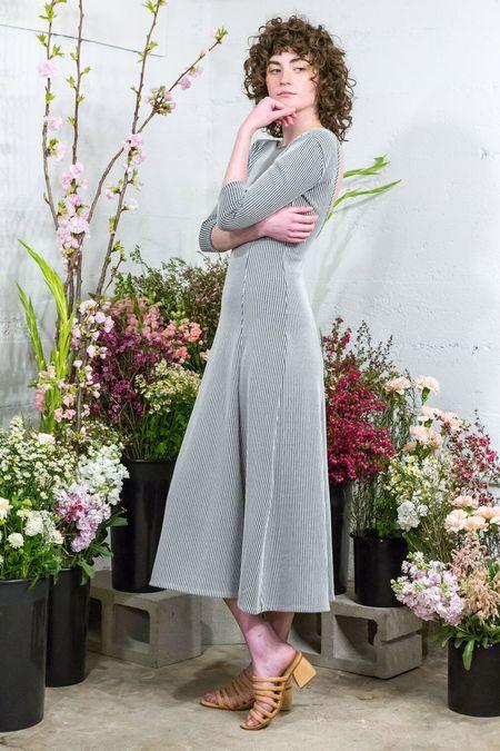 Mara Hoffman Sequana Dress - black/white Stripe