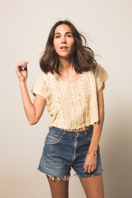 NicoNico Griffith Crop Top - Natural
