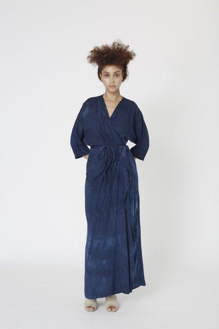 Osei-Duro Letsa Wrap Dress - Natural Indigo