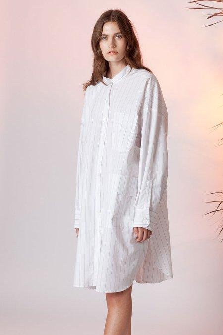 Toit Volant Sebastian Shirt Dress - white/gray stripe