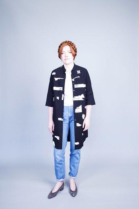 Eve Gravel Dans Le Bois Shirt Dress - Black Roches