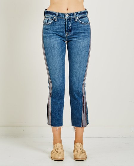 Hudson RILEY RELAXED CROP STRAIGHT JEAN - forgiver