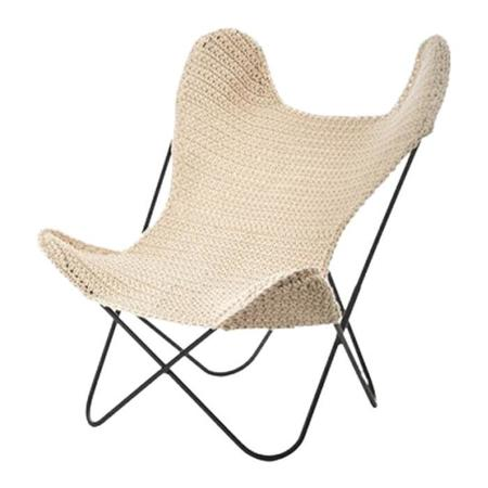 Kids Anne-Claire Petit Crochet Butterfly Chair - Natural Cream