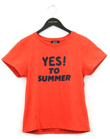 A.P.C. Yes To Summer T-shirt - Orange
