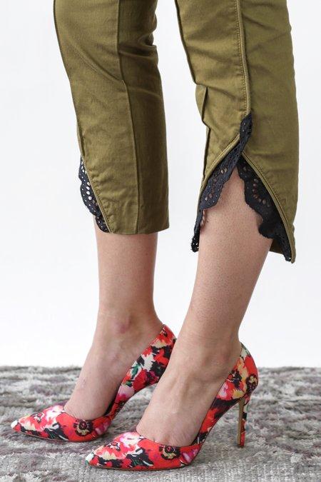 fb08c4f10501 Marissa Webb Paula Washed Cropped Pant - Khaki Green Combo ...
