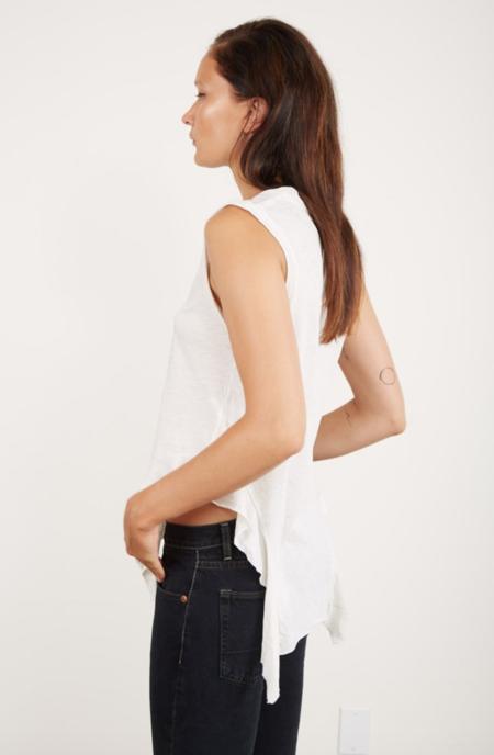 NSF Lea Ruffle Tee - Soft White