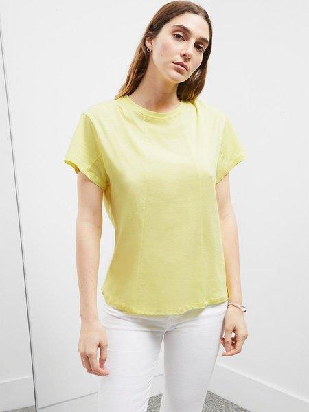 Great Plains Cotton Jersey T-shirt - Lemon Zest