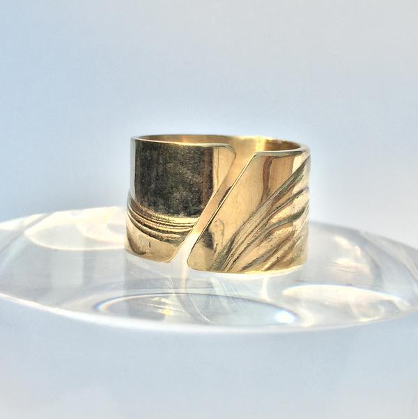 Leigh Miller Brass Diagonal Slice Ring
