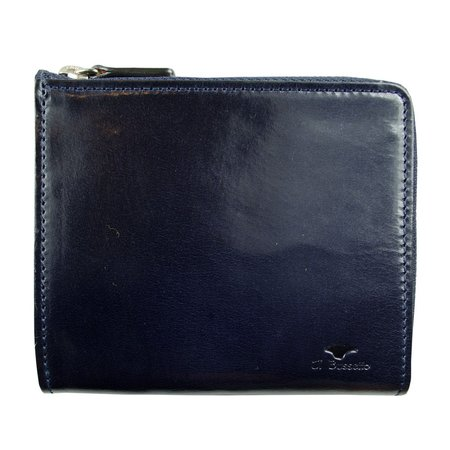 Il Bussetto Isola Zipped Wallet - Navy Blue