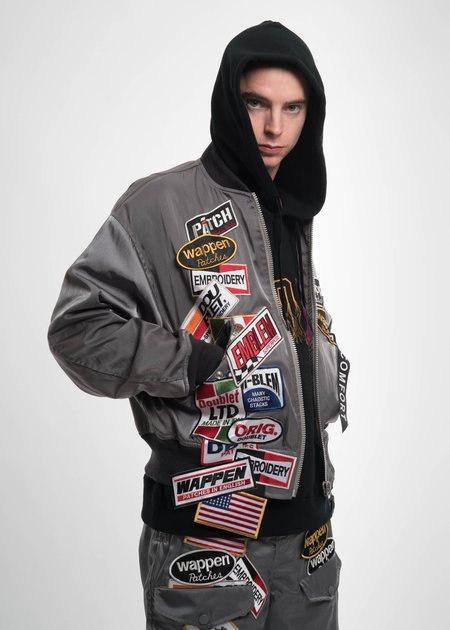 Doublet Chaos Patches Bomber - Grey