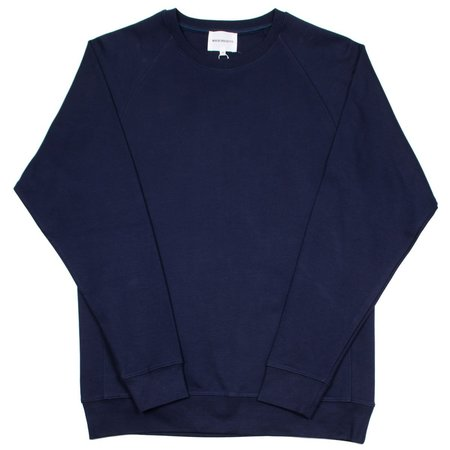 Norse Projects Vorm Summer Interlock Sweatshirt - Navy