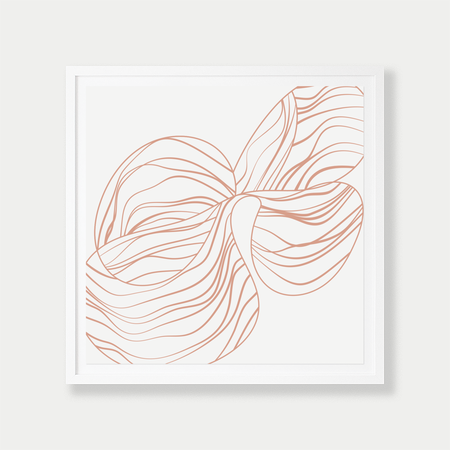 Barclay Haro Art Concepts Linear Orchid Study - Nude