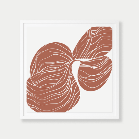 Barclay Haro Art Concepts Reverse Orchid Study - Terracotta