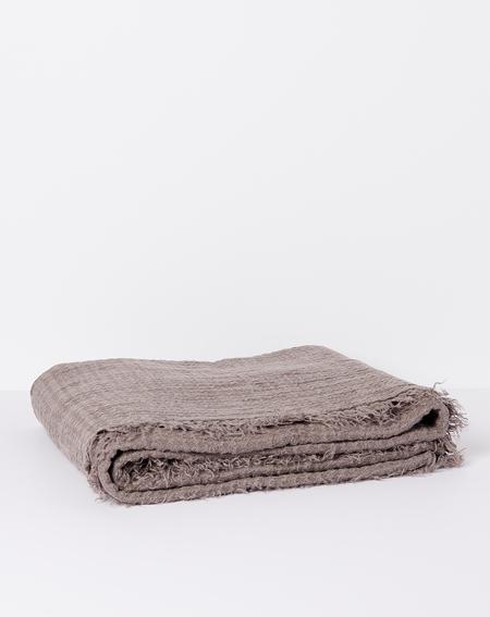 Hawkins New York Simple Linen Throw - Dark Grey