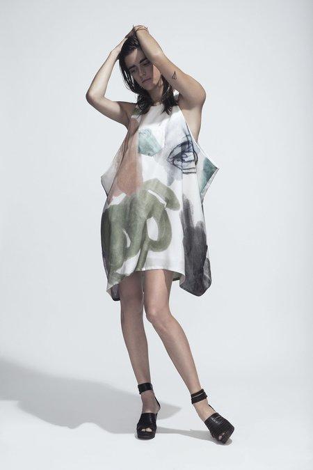 Ursa Minor Studio Rif Silk Dress - Print