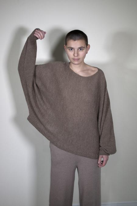 été noir Sideways sweater - taupe