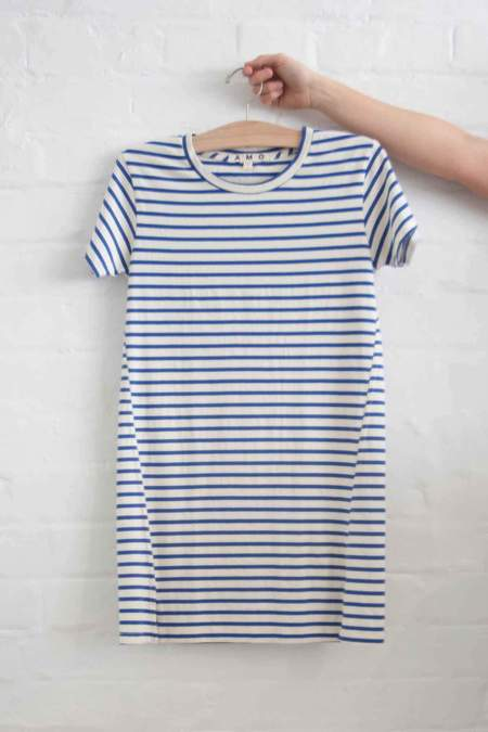 Amo Twist Dress - Blue Sailor Stripe