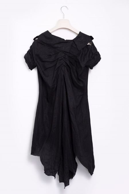 Aganovich Asymmetrical Dress - Black