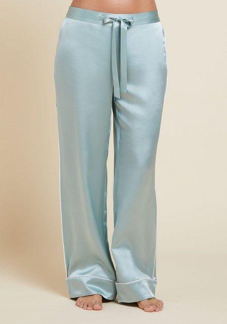 Olivia Von Halle Coco Silk Pyjama - Mint