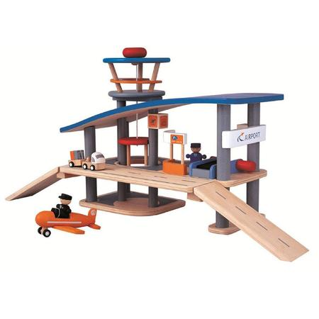 Kids Plan Toys Wooden Airport Toy