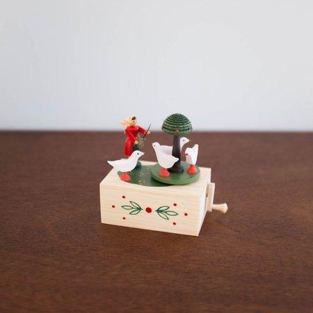 Kids Shop Merci Milo Wooden Girl with Goose Music Box