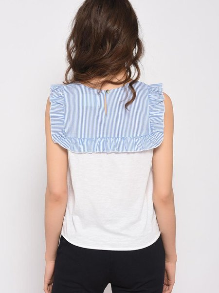 Leon & Harper Trinidad Stripe Top - White/Blue