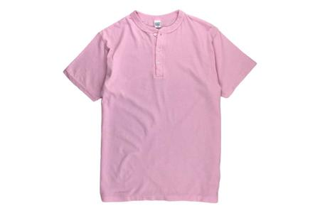 DUBBLEWORKS Henley T-Shirt - Pink